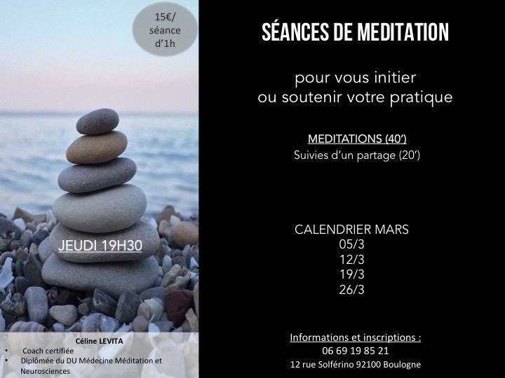 Séances méditation Mars